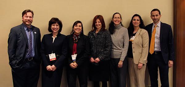 Ann Albright, CDC; Karen S. Kmetik, AMA; Dani Pere, ACPM; Mike Payne, Omada Health. Photo courtesy of ACPM